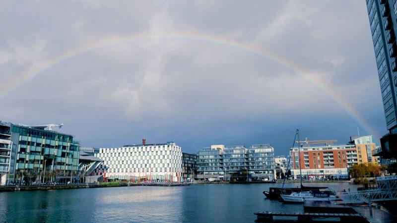 ダブリンの雨と虹